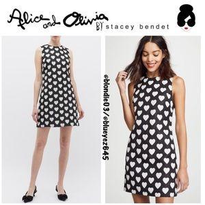 "Alice+Olivia ""Coley"" heart jacquard sequin dress"
